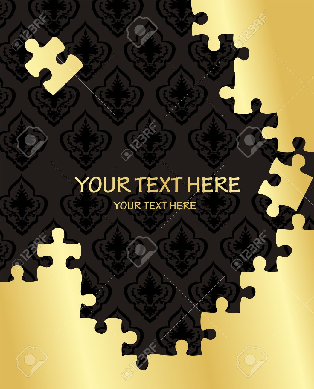 Vintage jigsaw puzzle elements illustration Stock Vector - 10351397