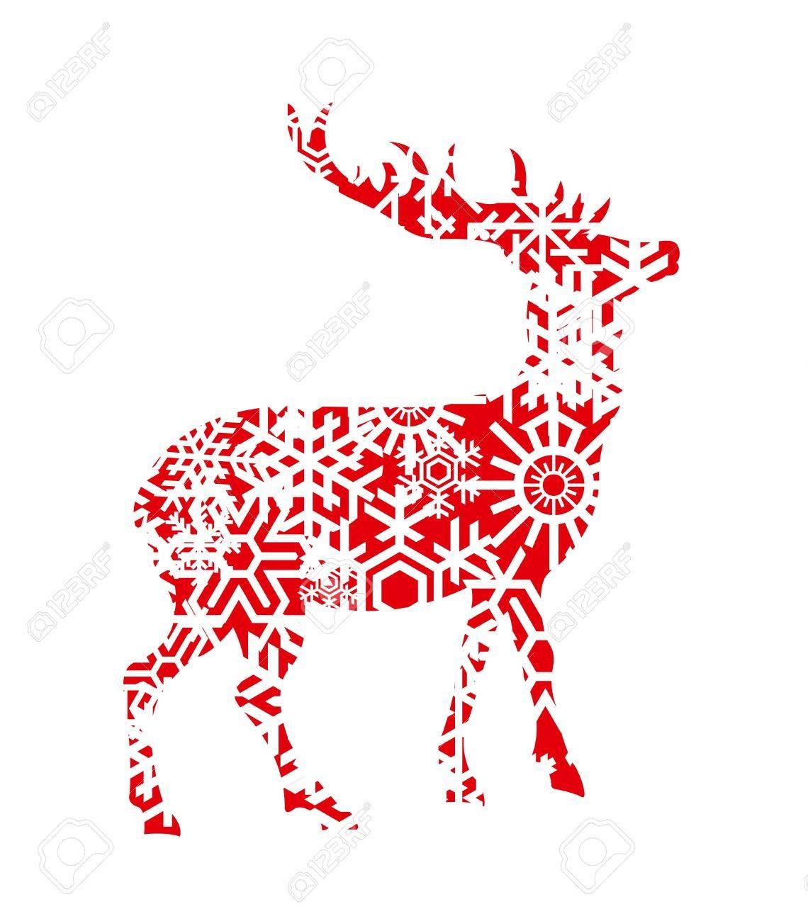 Christmas deer background illustration Stock Vector - 10364906