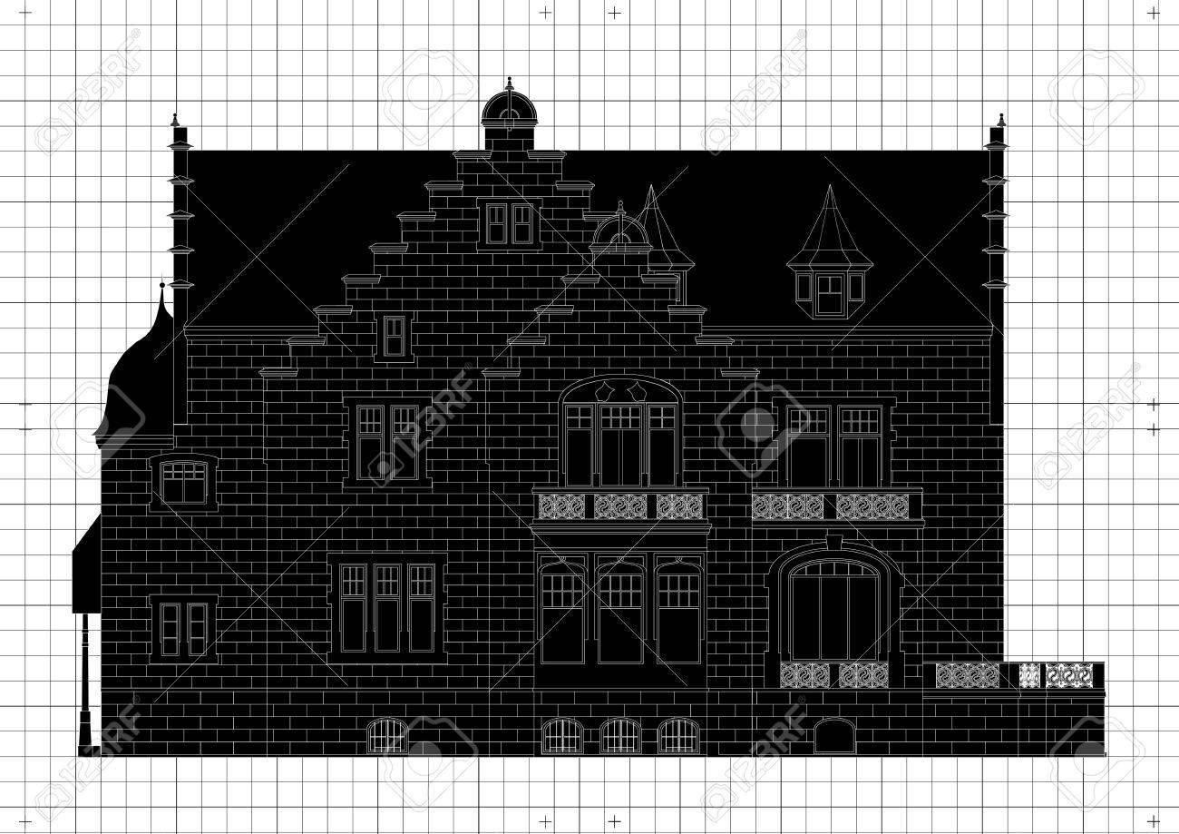Vintage house blueprint plans background illustration royalty free vector vintage house blueprint plans background illustration malvernweather Image collections
