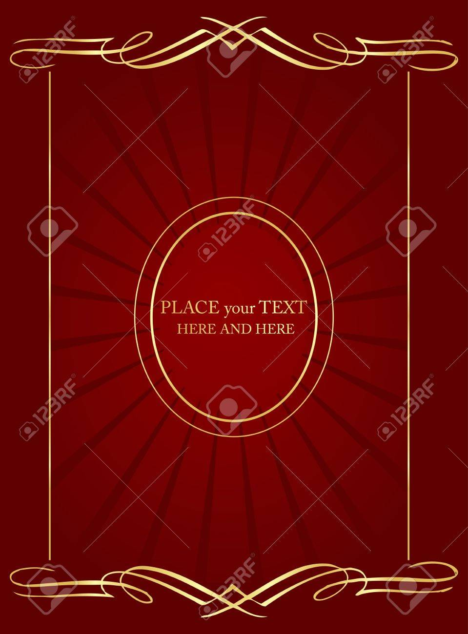 Vintage background vector for book cover or card Stock Vector - 10362278