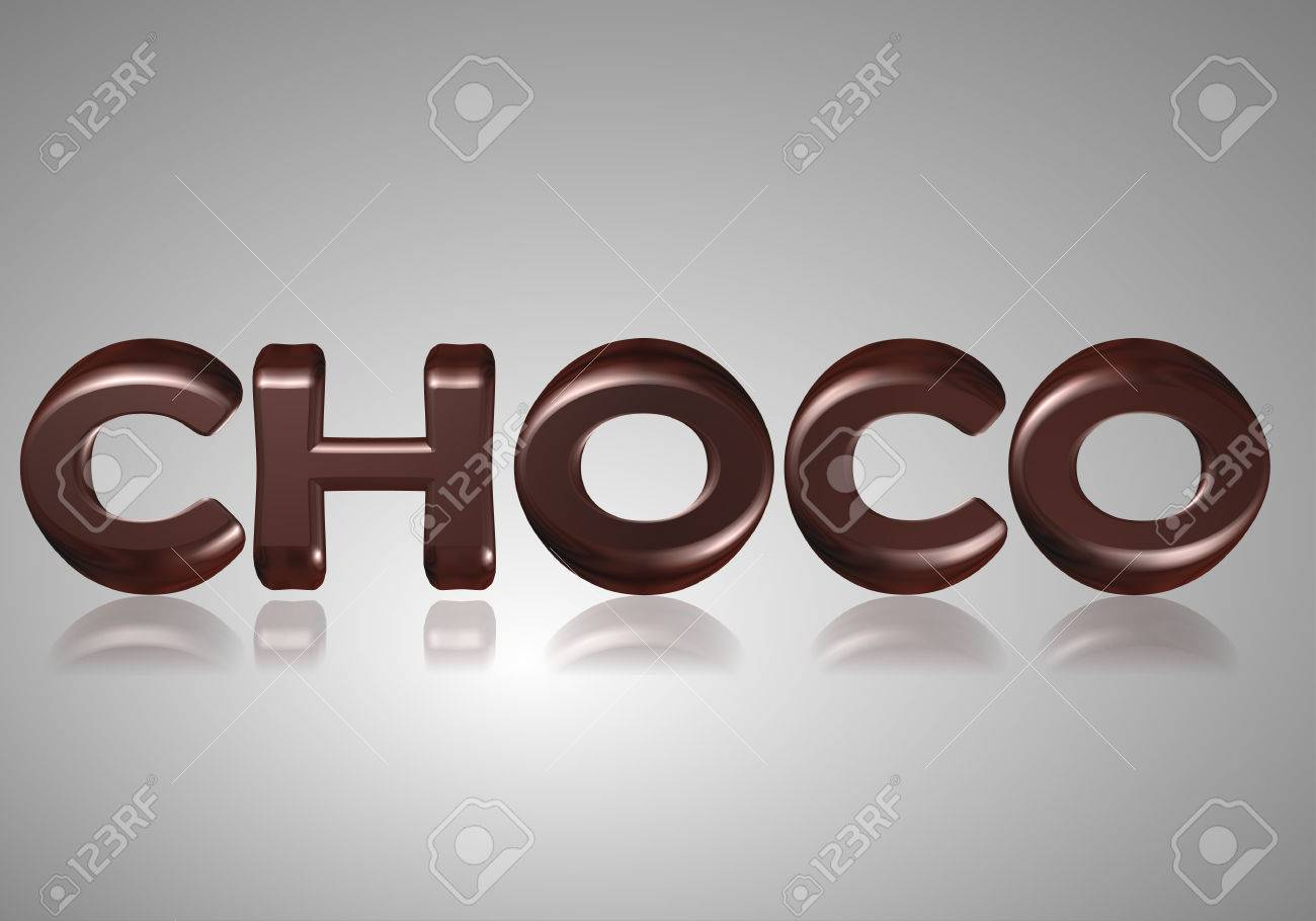 Word Choco Chocolate Letters A...