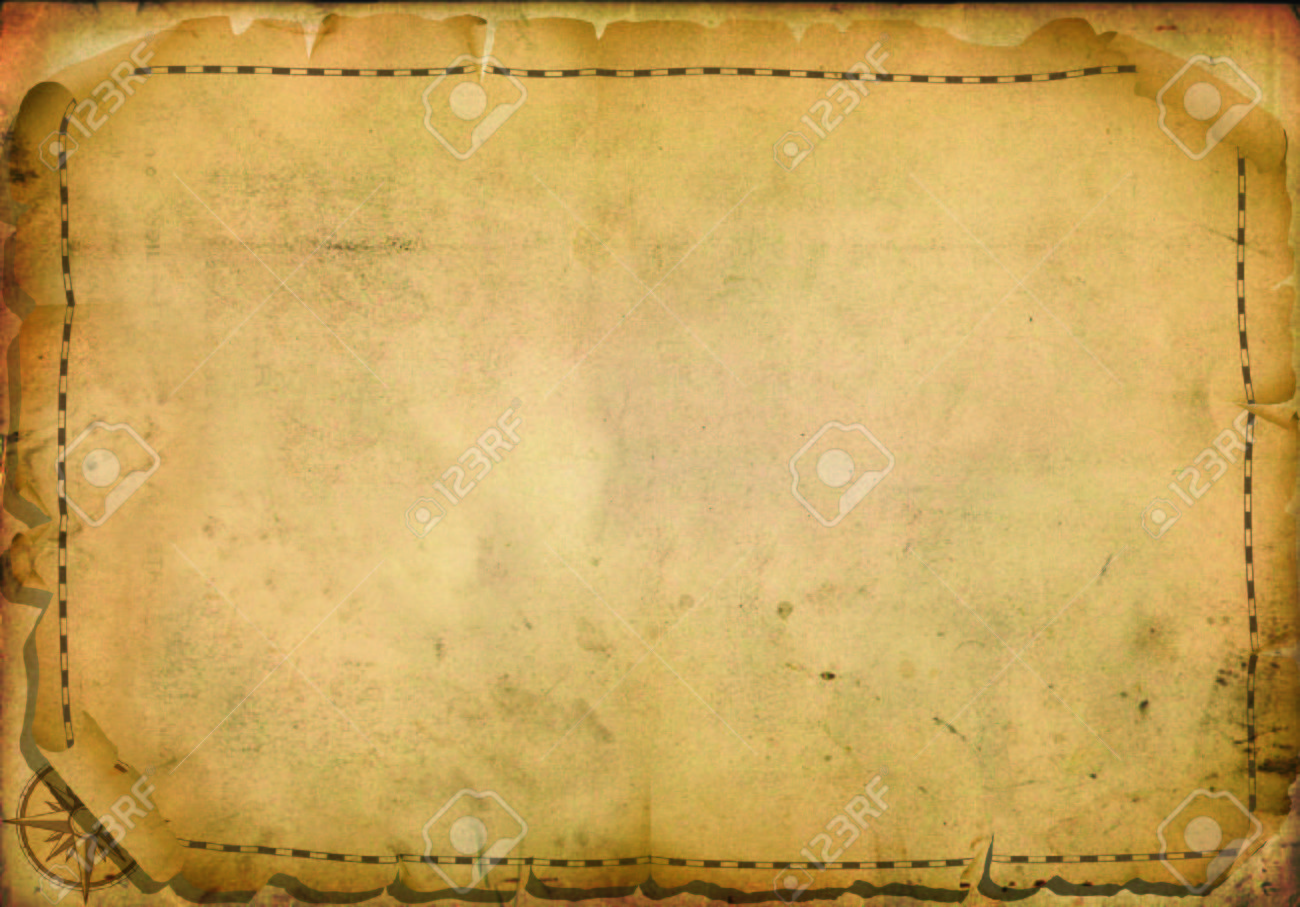 Old Navigation Map On Ancient Parchment With Space For Writing - Us parchment map