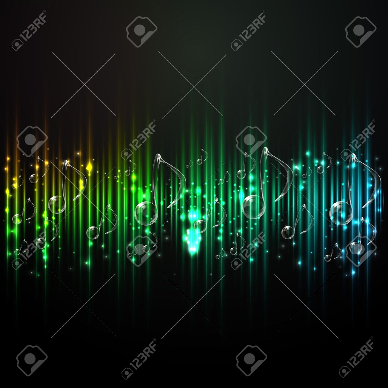Abstract background music  Sound technology  Background notes