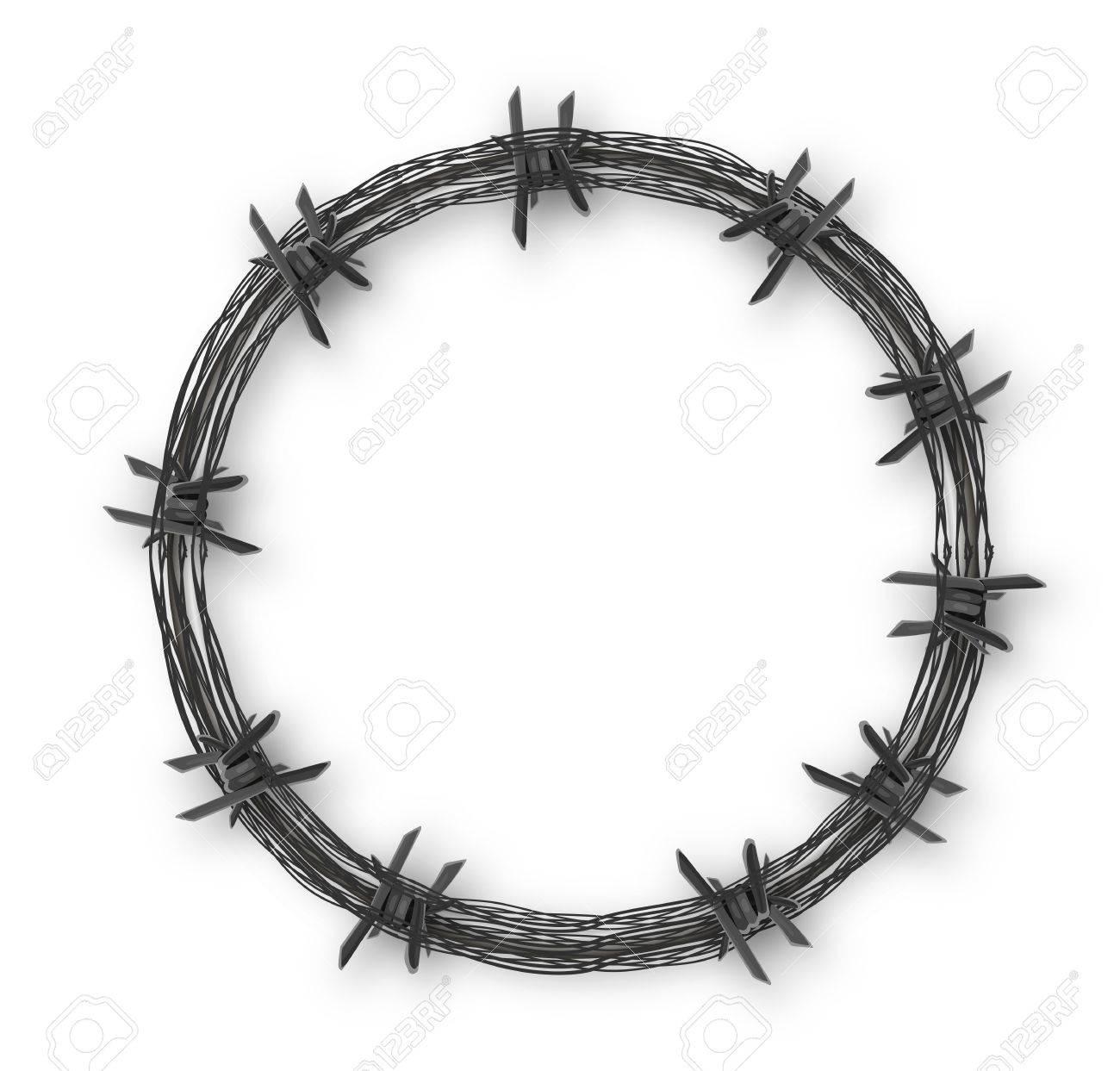 Crown With Barbed Wire, Vector Art Illustration. Royalty Free ...