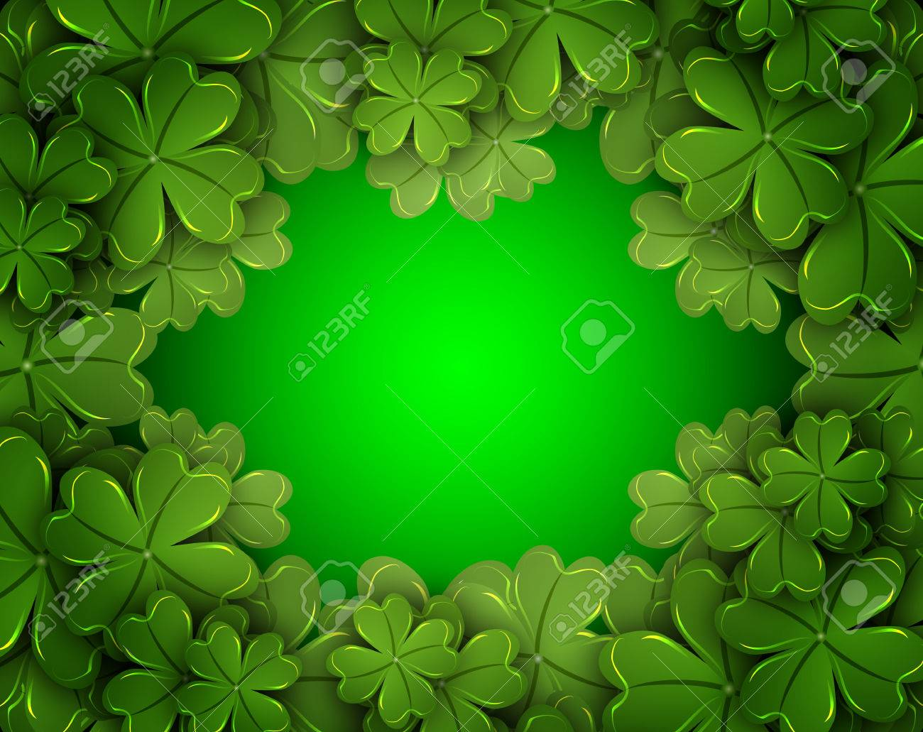 background of the four leaf clover vector art illustration
