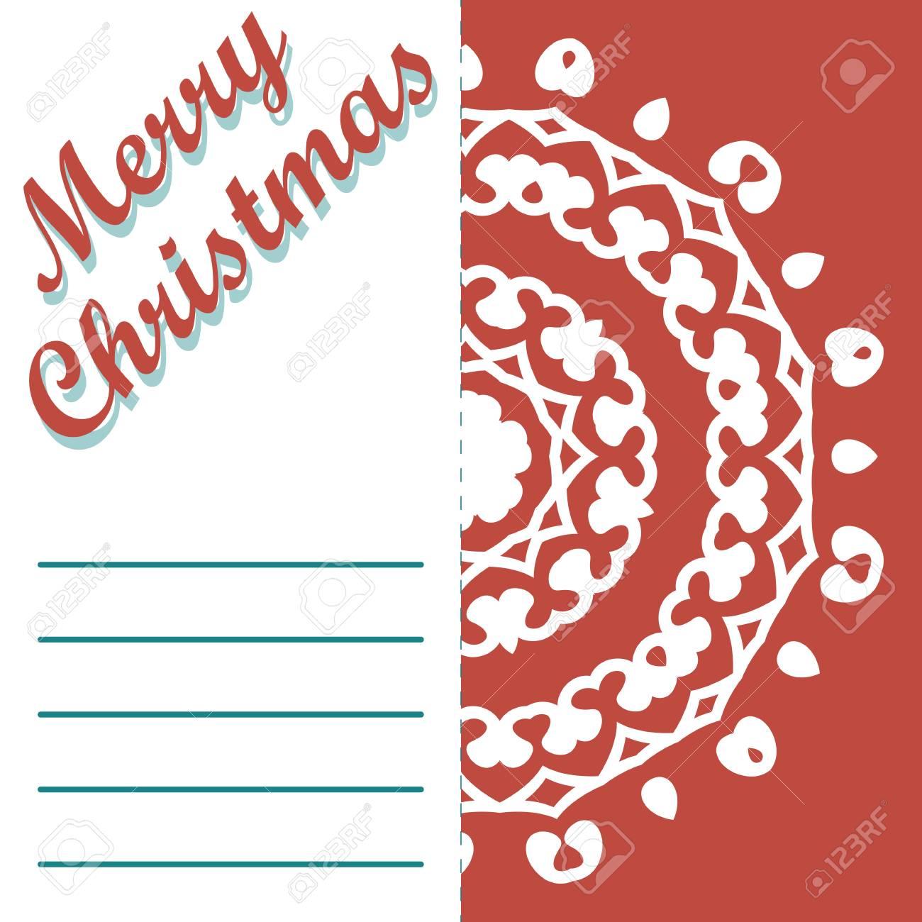Weihnachts-Grußkarte Und Muster Vektor Hintergrund. Frohe ...