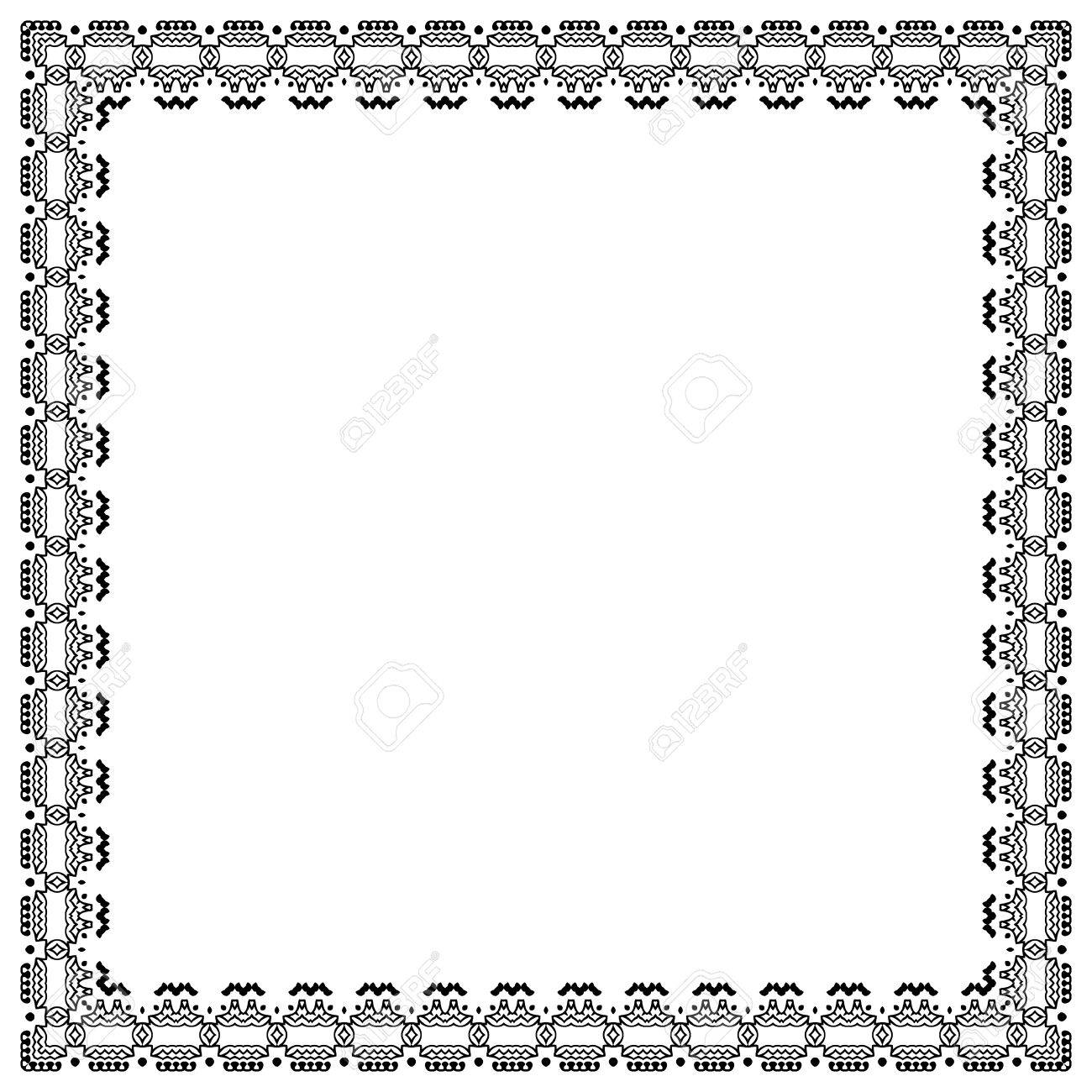 vintage frame border. Decorative Vintage Frame. Border Pattern Vector Stock - 56239551 Frame O