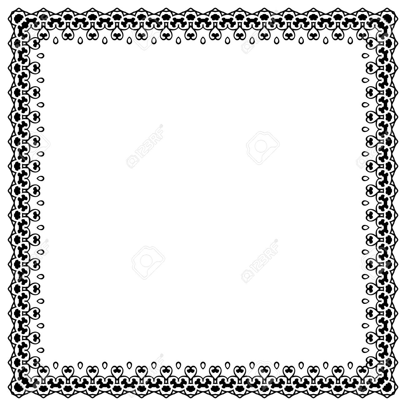 Decorative Vintage Frame Border Pattern Stock Vector