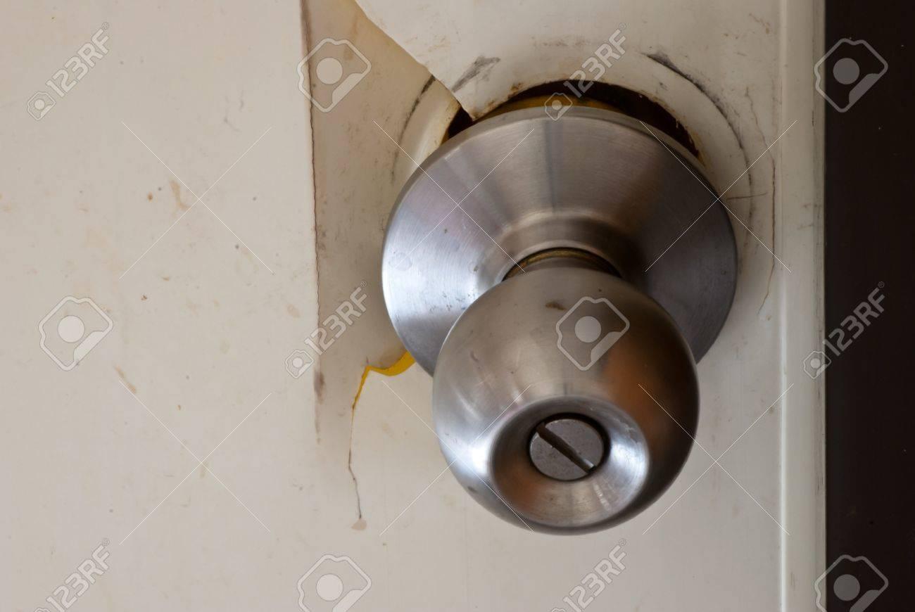 Broken Door Handle Stock Photo   16883946