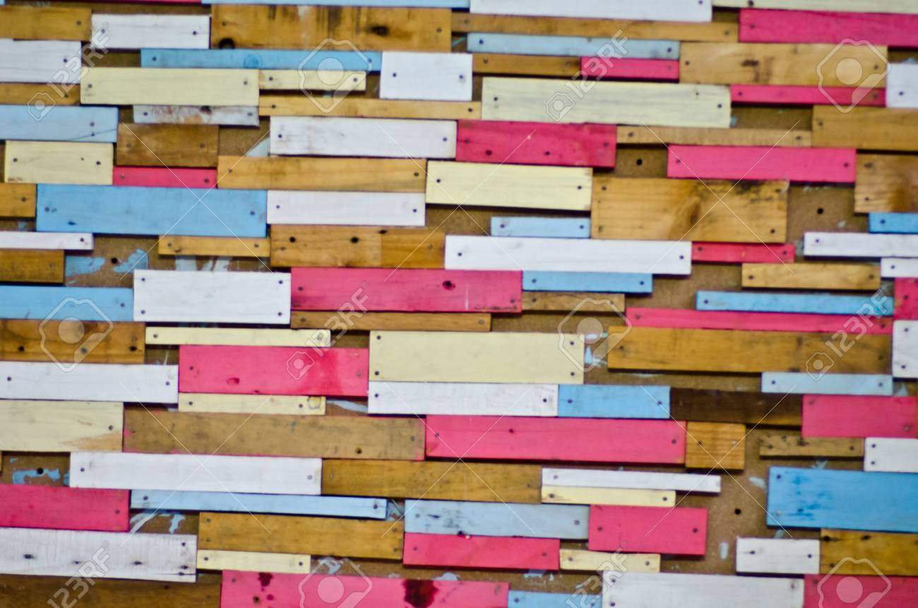 Vintage colorful wooden wall background Stock Photo - 17945041