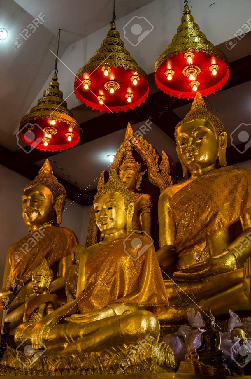 Golden buddha image at Lopburi, Thailand Stock Photo - 18689661