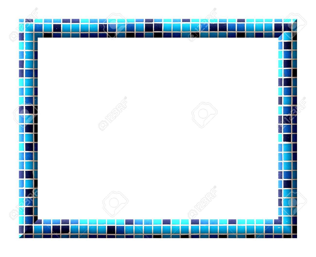 Empty convex rectangular frame with square tiles texture dark empty convex rectangular frame with square tiles texture dark blue light blue and turquoise stock jeuxipadfo Images