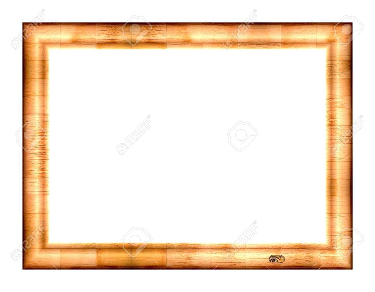 vider cadre photo en relief tons jaune-orange, isolés sur un fond