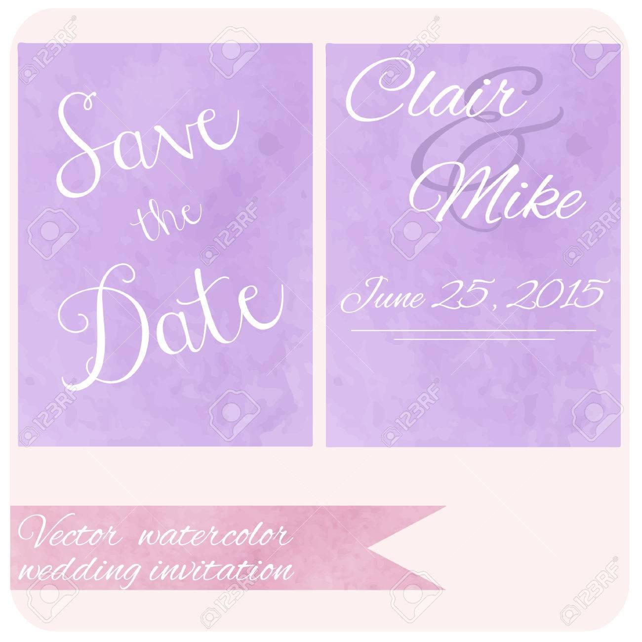 Watercolor Pastel Lilac And Purple Backdrop Color. Wedding ...