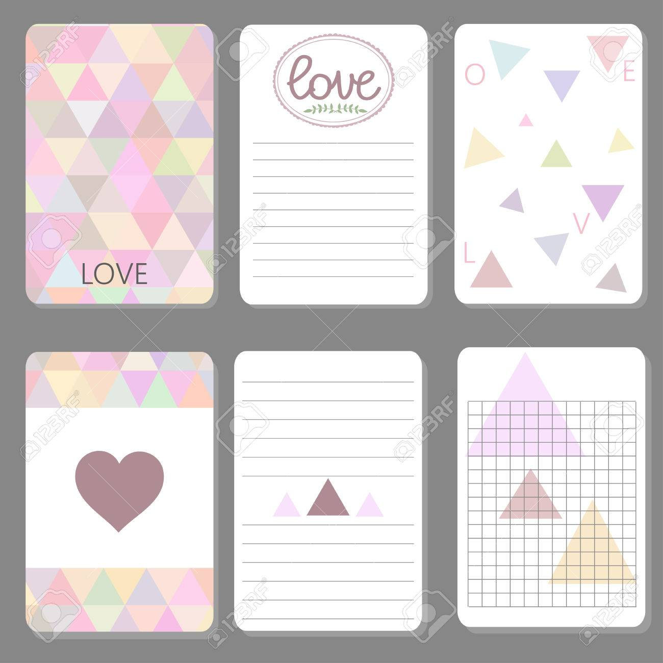image regarding Printable Notepad referred to as Printable lovable design and style playing cards in direction of do record, notepad