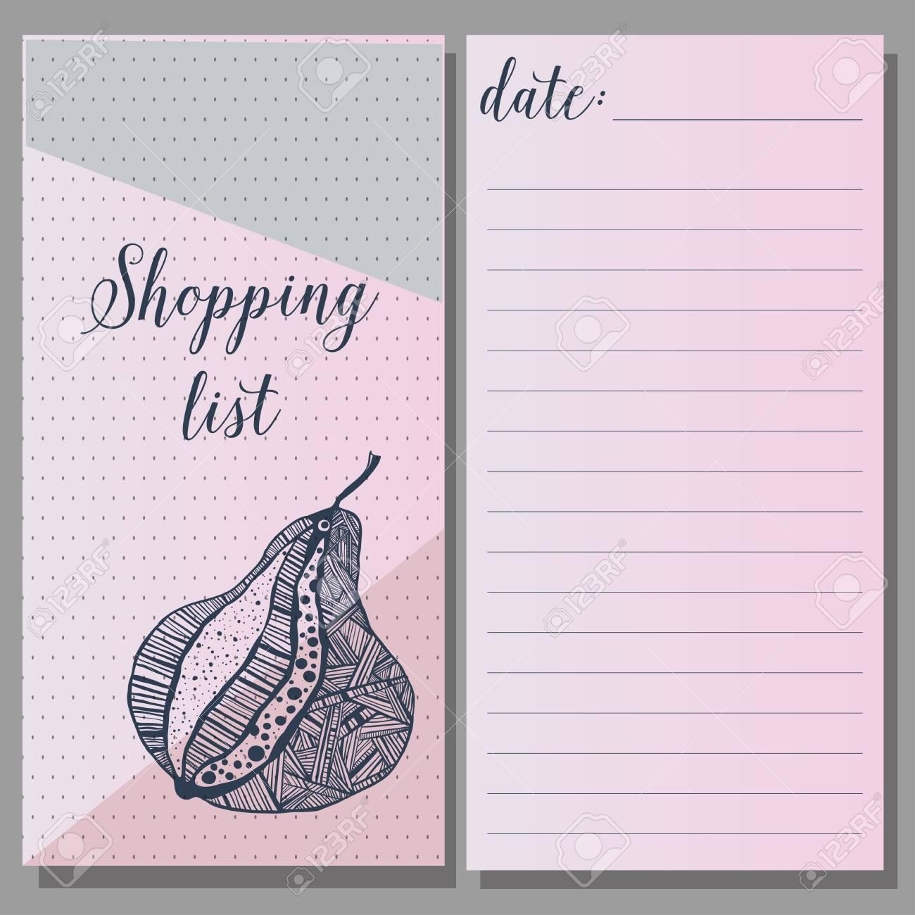 Einkaufsliste. Druckbare Journaling-Karten, Für Die Veranstalter ...