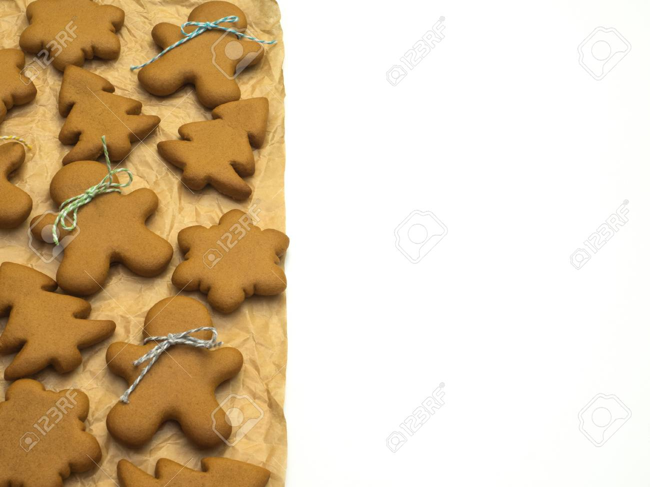 Christmas Cookies Isolated On White Background. Christmas Baking ...