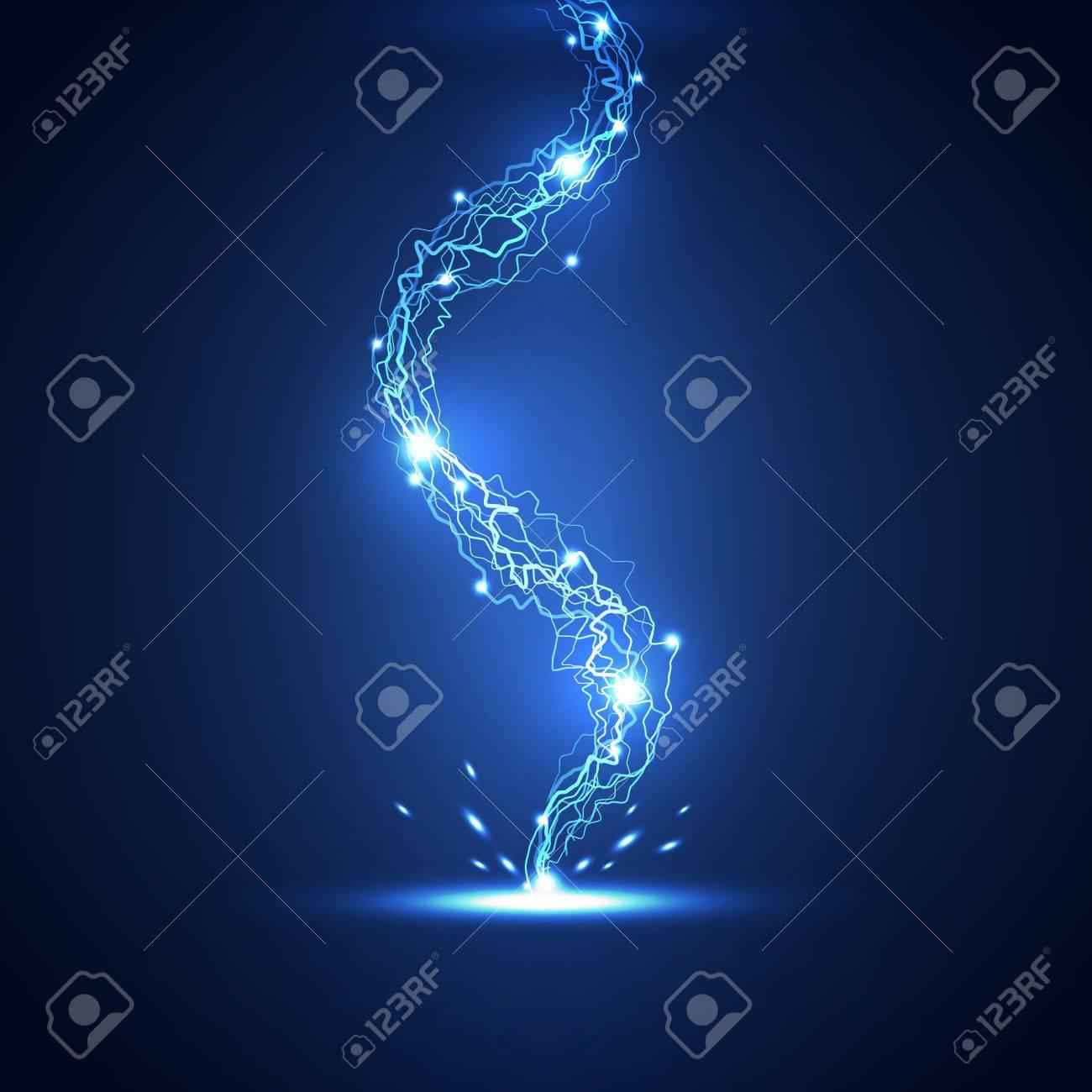 Abstract lightning technology background, vector illustration - 33887712
