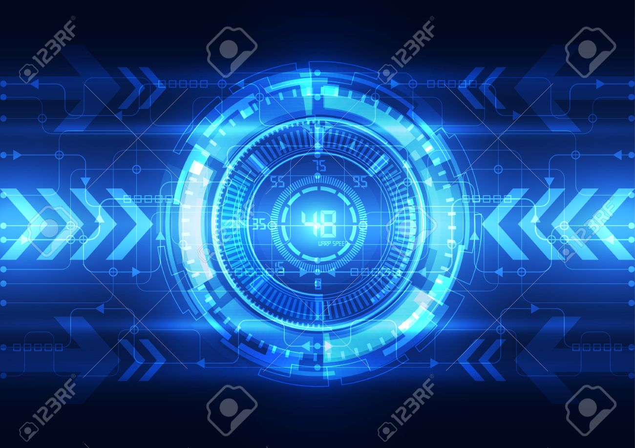Abstract Electric Circuit Digital Brain,technology Concept Vector ...