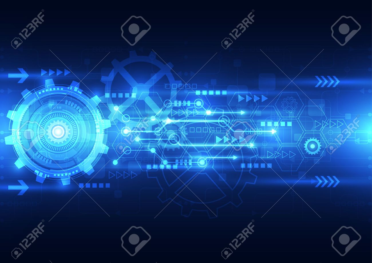 vector abstract engineering future technology, electric telecom background - 35351590