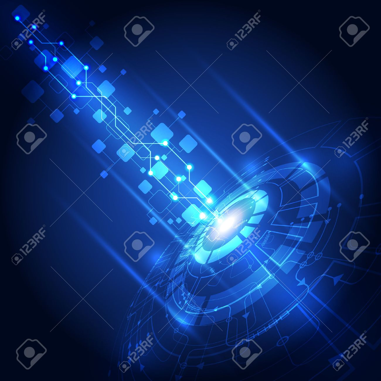 vector abstract future technology, electric background Stock Vector - 42142635