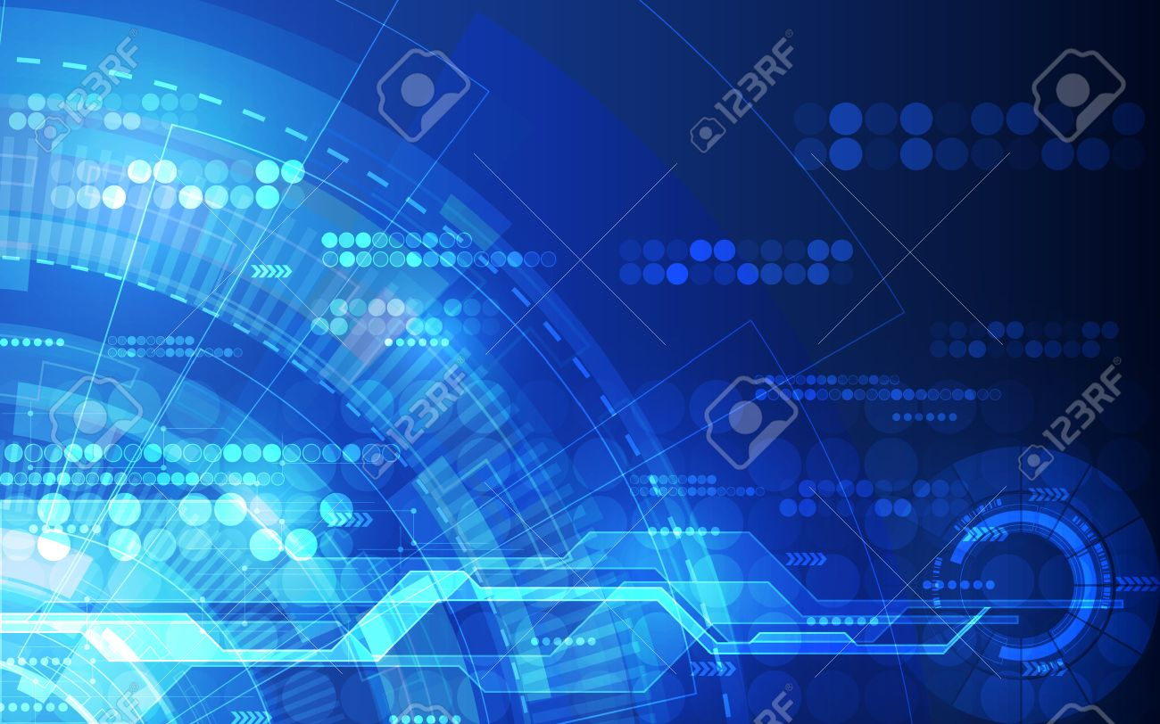Abstract futuristic digital technology background. Illustration Vector - 51336775