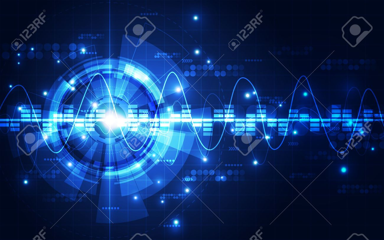 Abstract futuristic digital technology background. Illustration Vector - 51755019