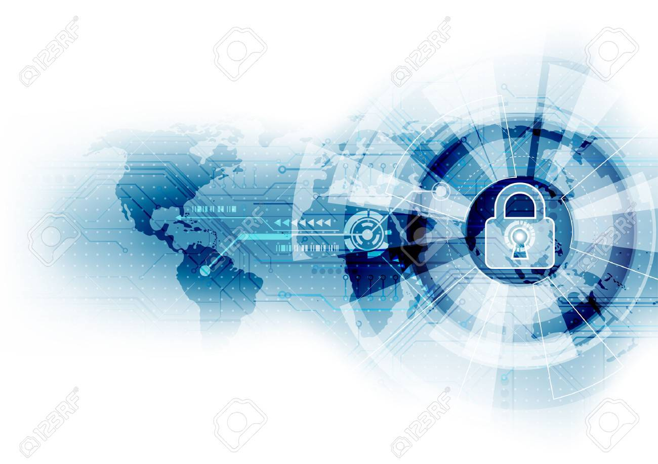 Abstract security digital technology background. Illustration Vector - 55601946