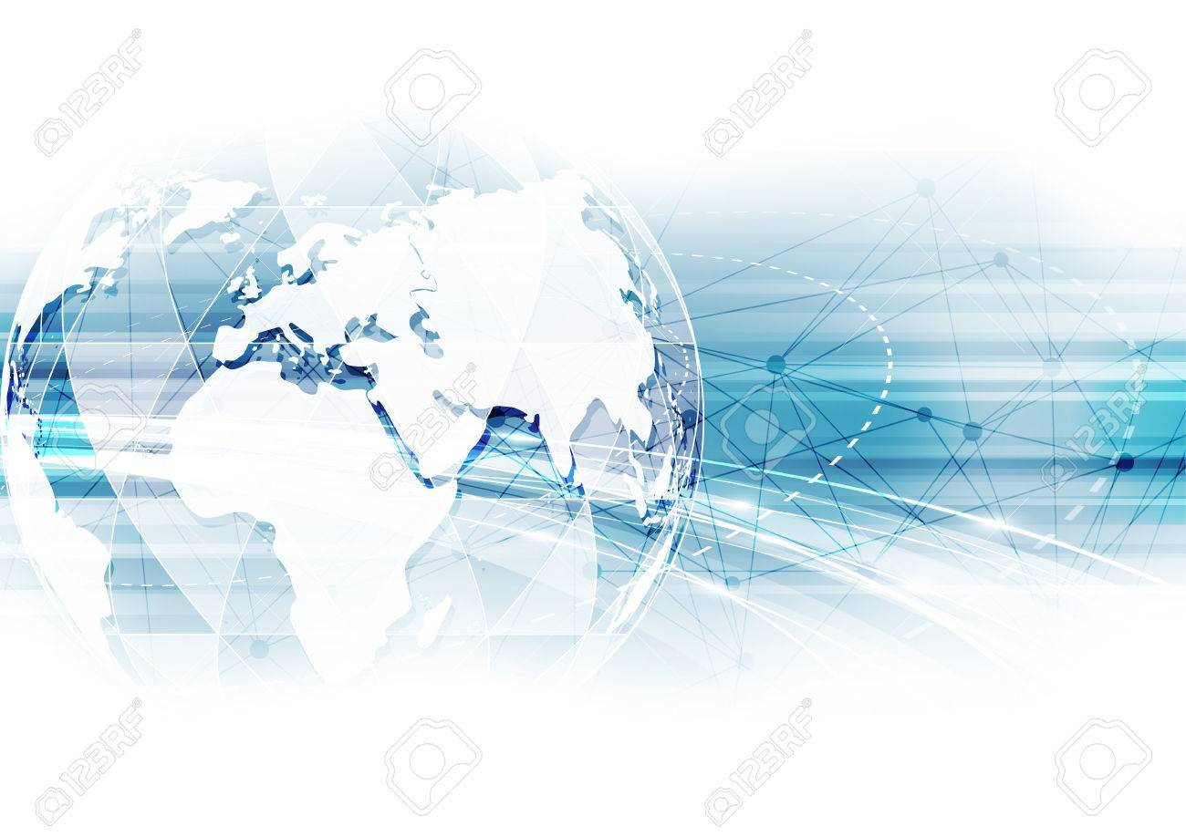 vector digital global technology concept, abstract background - 60191196