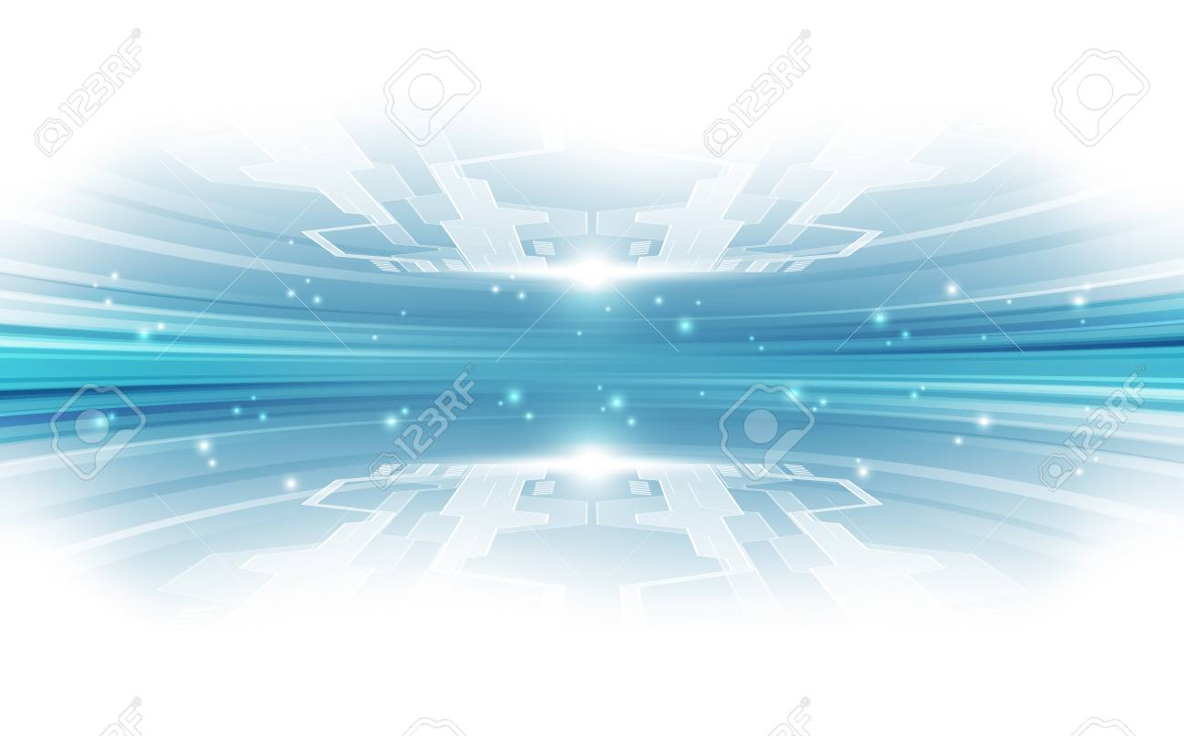 Abstract vector blue technology concept. background illustration - 87574386