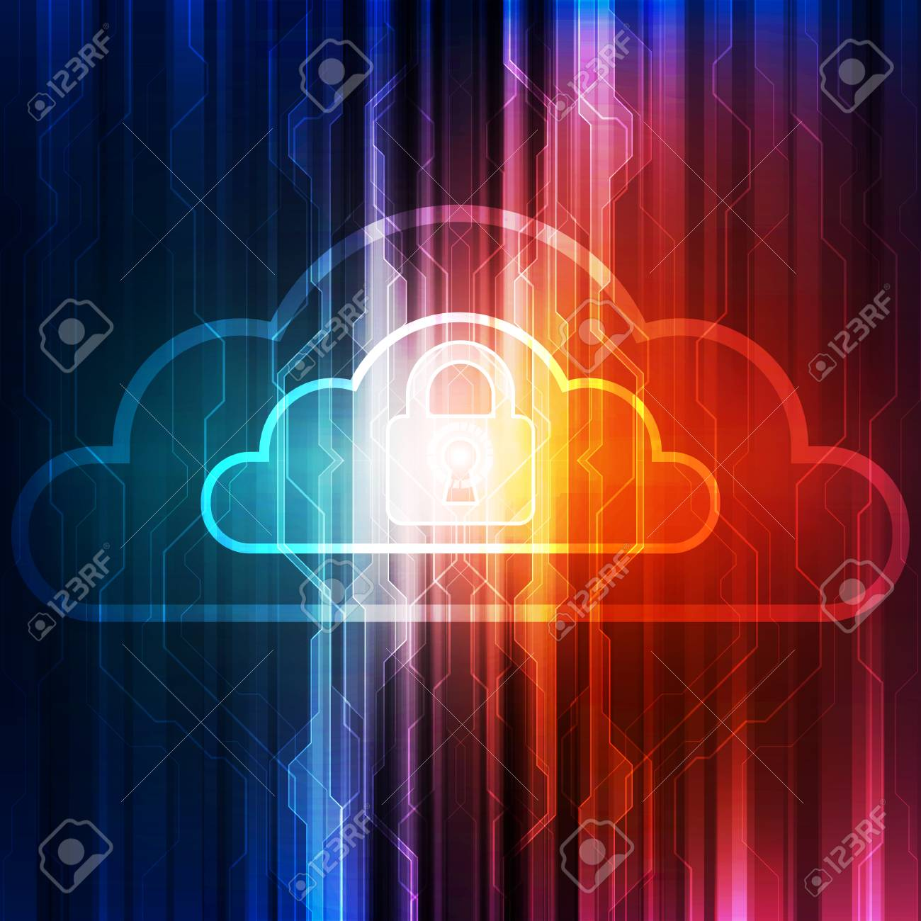 Abstract cloud technology in the future - 121024704