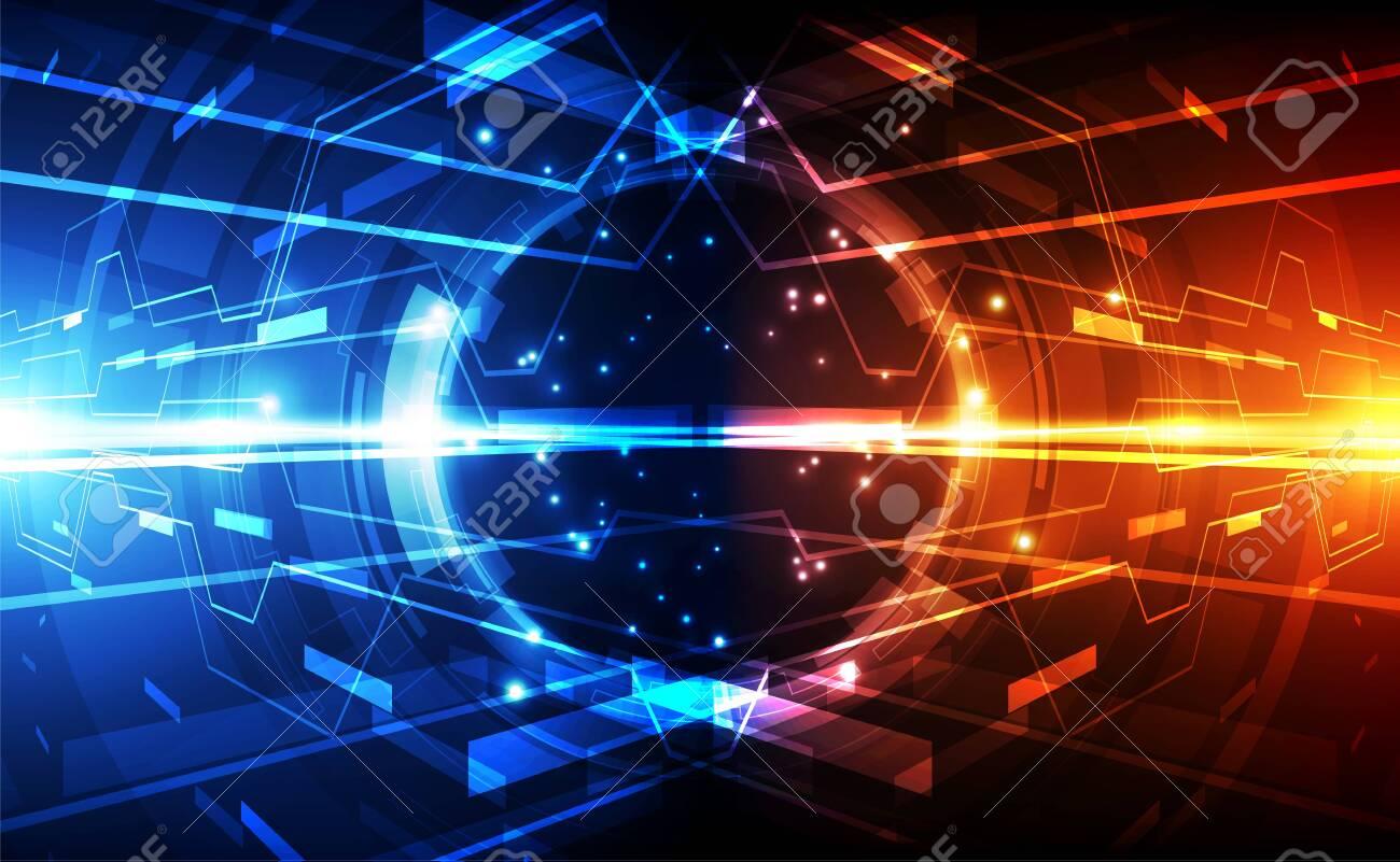 Abstract futuristic digital technology - 129441231