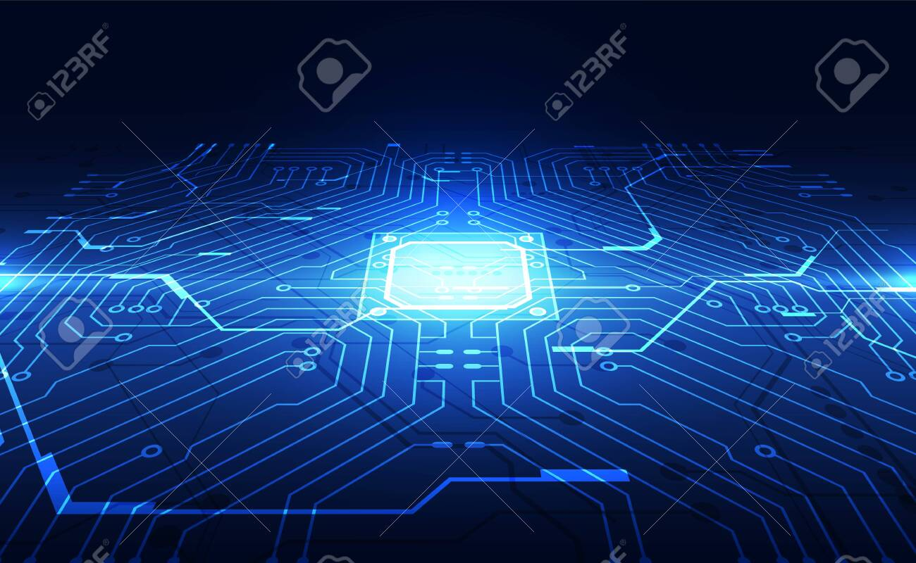 Vector graphics. chip processor speed technology background. vector illustration - 137416113