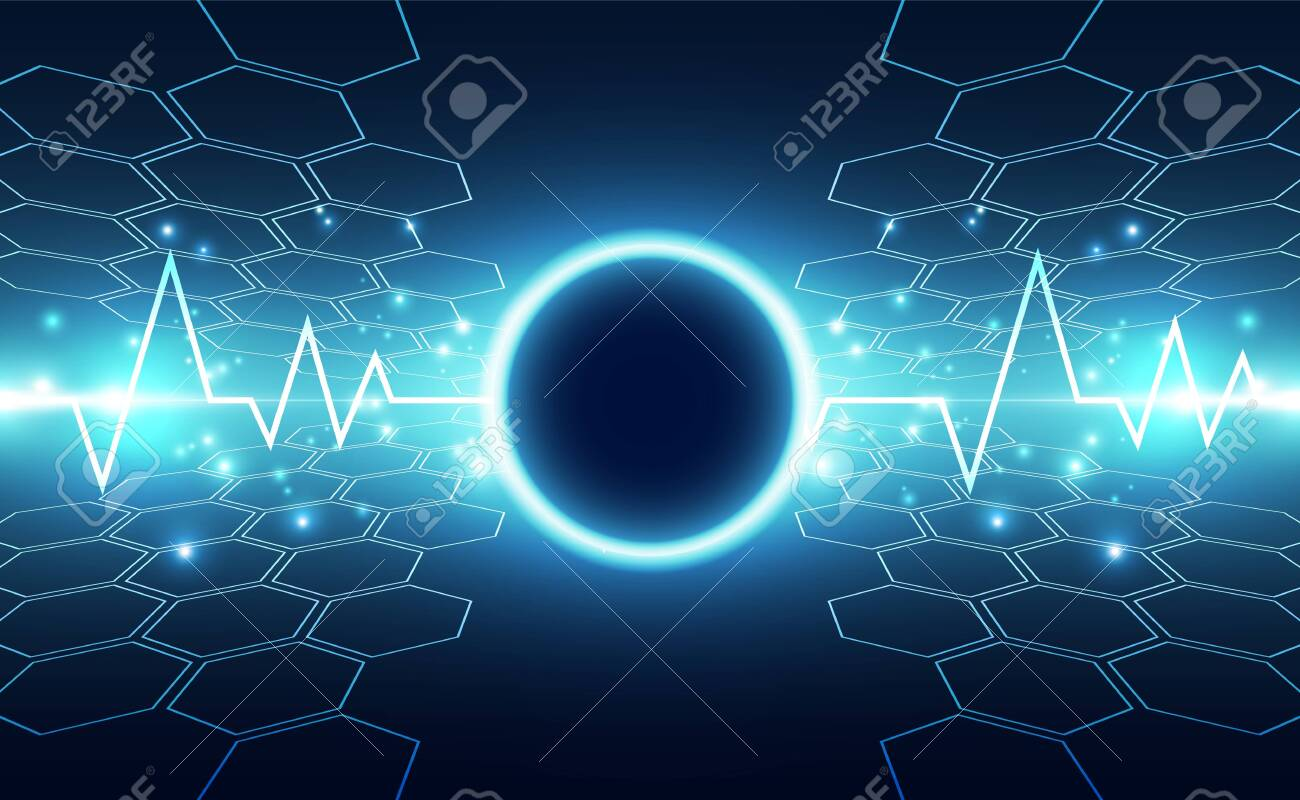 Abstract futuristic digital technology background. Illustration Vector - 146000460