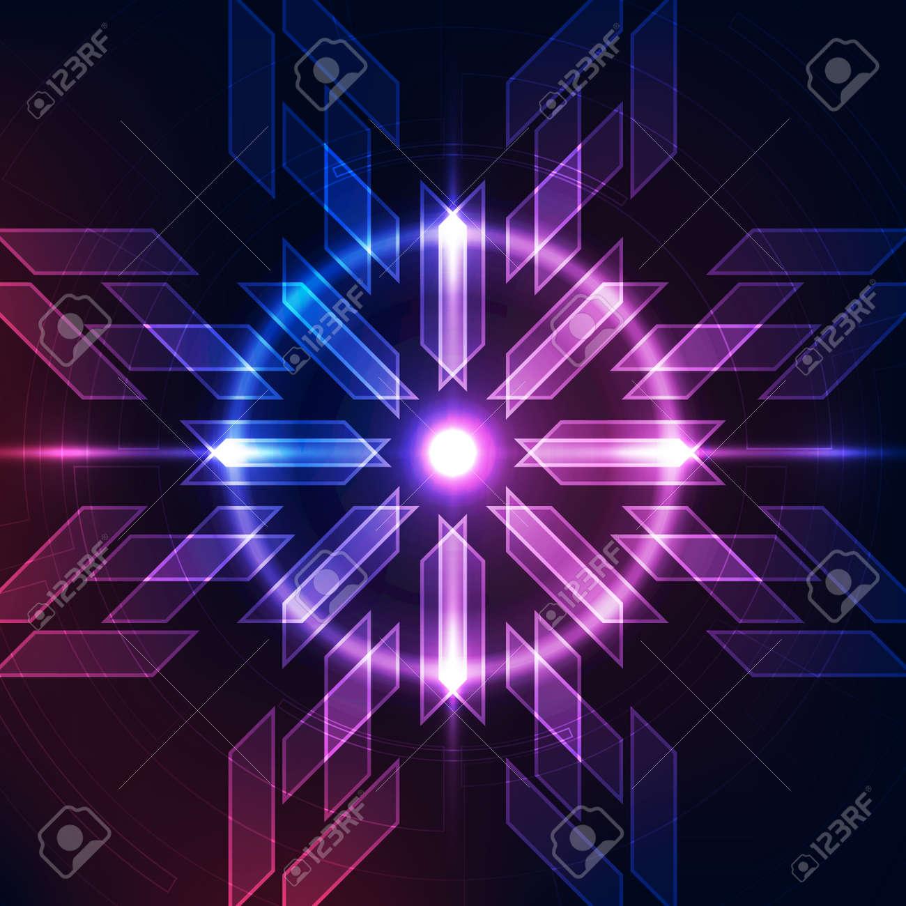 Abstract futuristic digital technology - 168282634