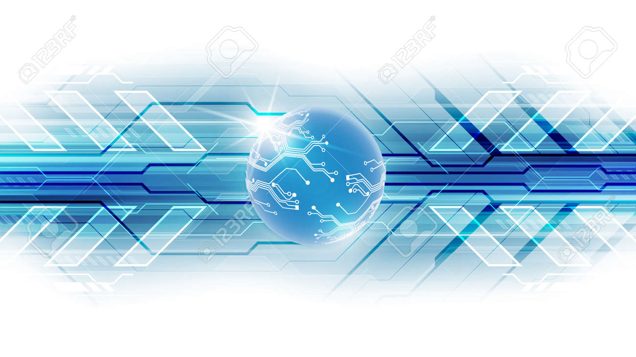 Digital global technology concept - 168282638
