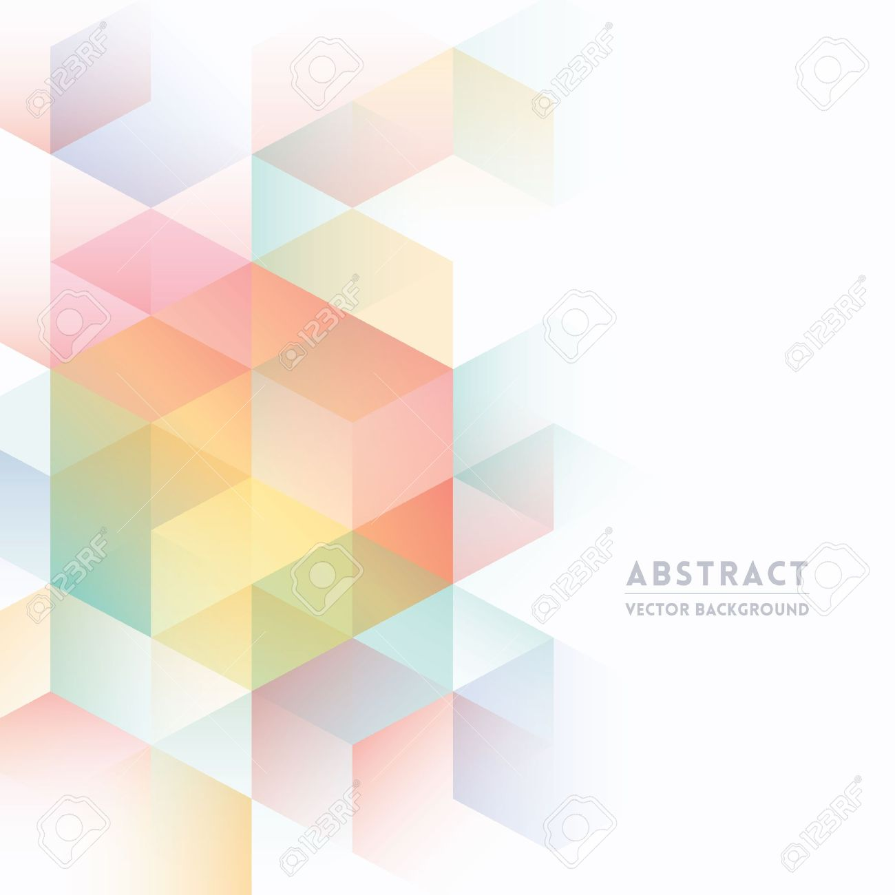Abstract Isometric Shape Background for Business / Web Design / Print / Presentation Stock Vector - 21948345