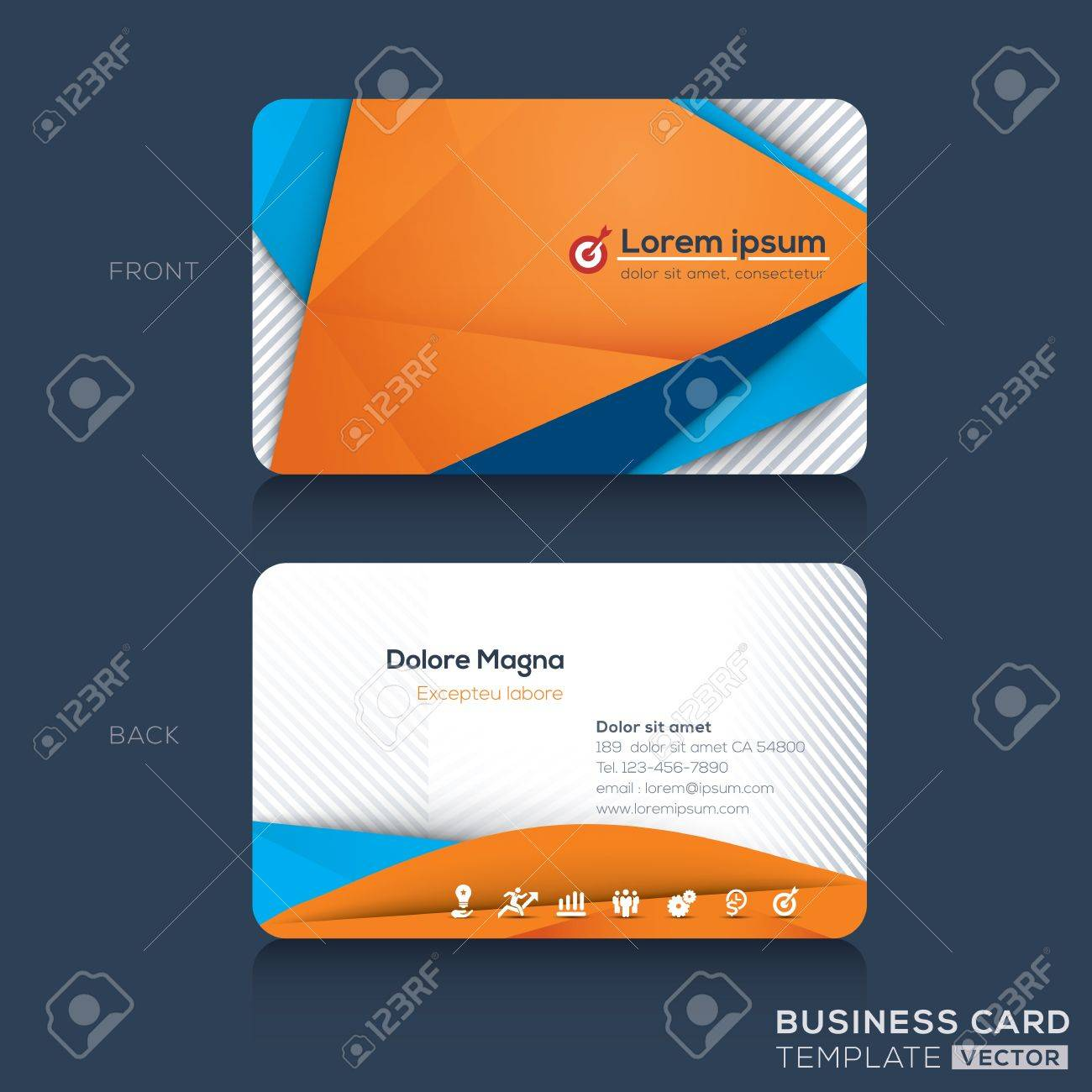 Business Cards Design Template Royalty Free Cliparts Vectors And - Business cards examples templates