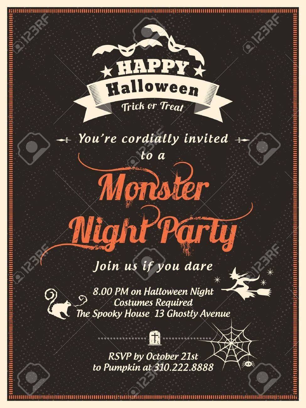 halloween party invitations templates - Gidiye.redformapolitica.co