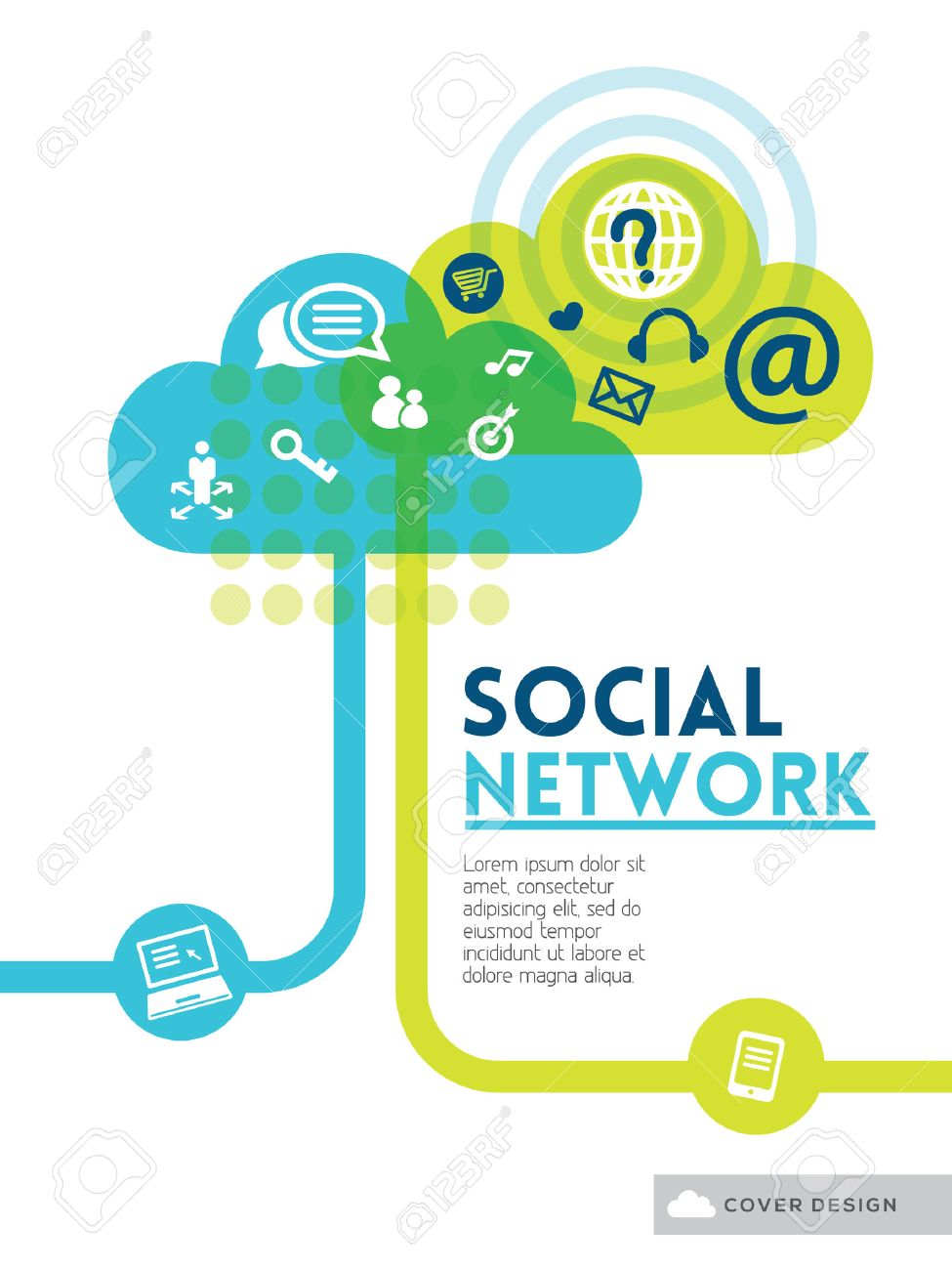 Cloud Social Media Network concept background design layout for poster flyer cover brochure Stock Vector - 22774263