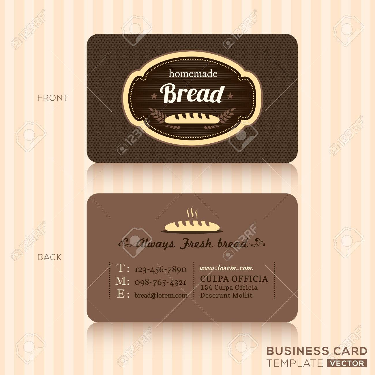 2668 bakery business card stock vector illustration and royalty bakery house business card design template magicingreecefo Images