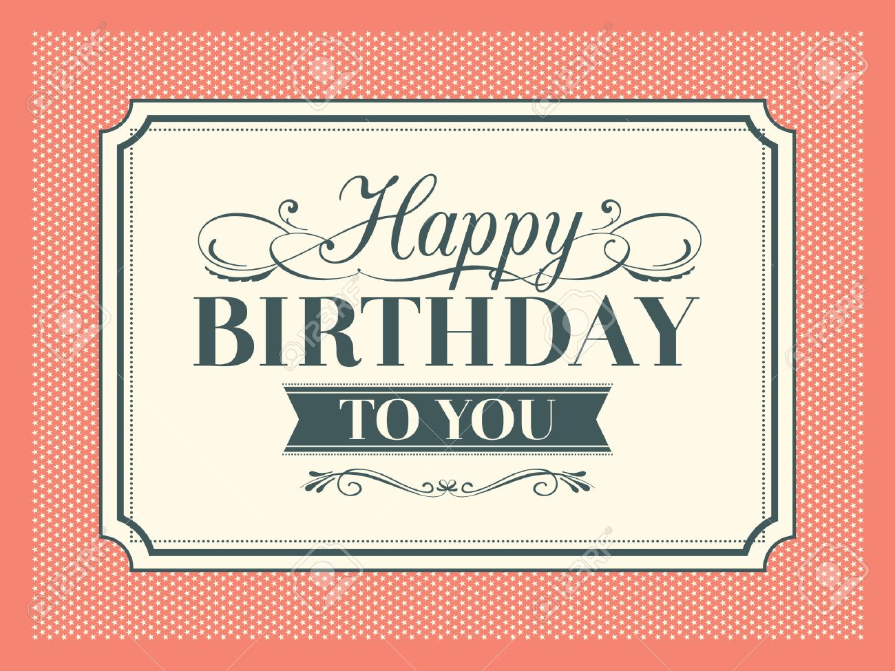 Vintage Happy Birthday Card Frame Design Royalty Free Cliparts Vectors And Stock Illustration Image 25948119