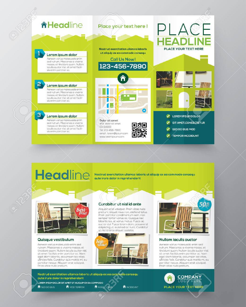 real estate brochure flyer design vector template in a size real estate brochure flyer design vector template in a4 size tri fold stock vector 30750177