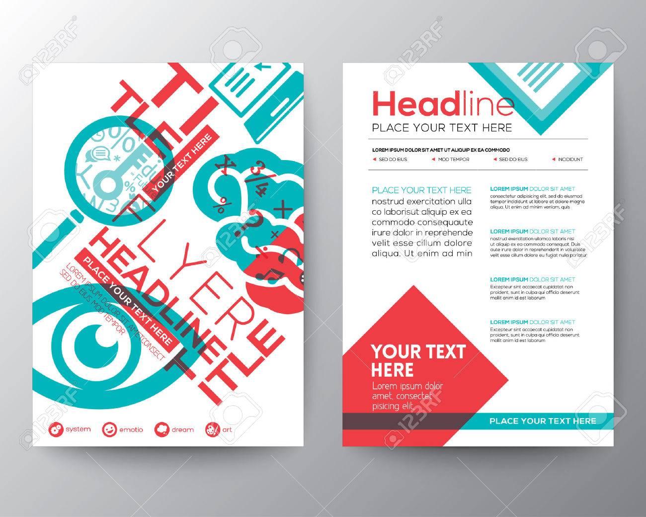 Exceptional Typography Brochure Flyer Design Layout Stock Vector   31064964
