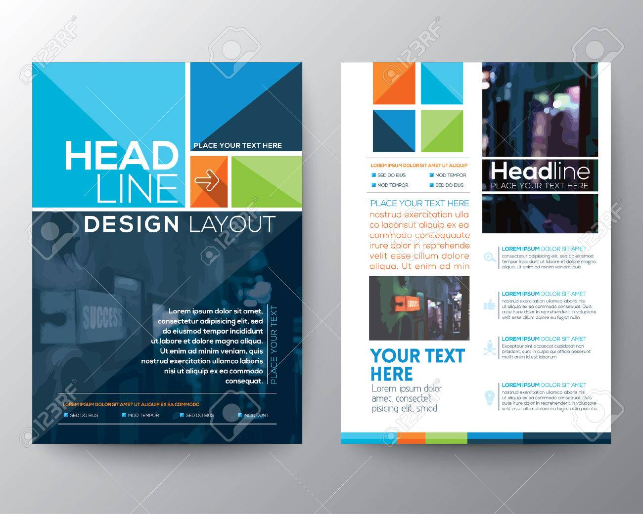brochure flyer design layout template in a4 size royalty free