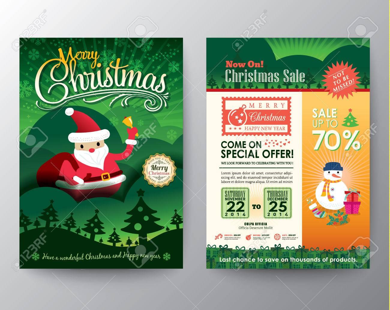 Weihnachtsverkauf Broschüre Flyer Design-Layout Vektor-Vorlage Im A4 ...