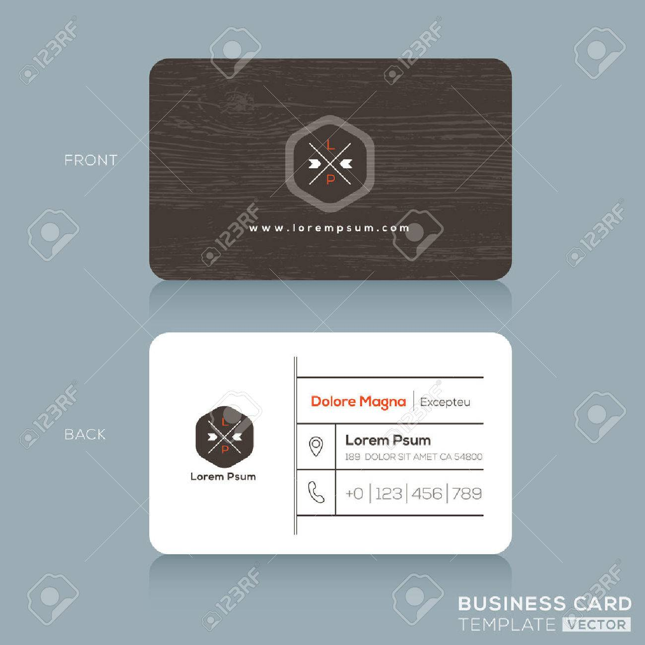 Modern business cards design template with dark wood background imagens modern business cards design template with dark wood background reheart Images
