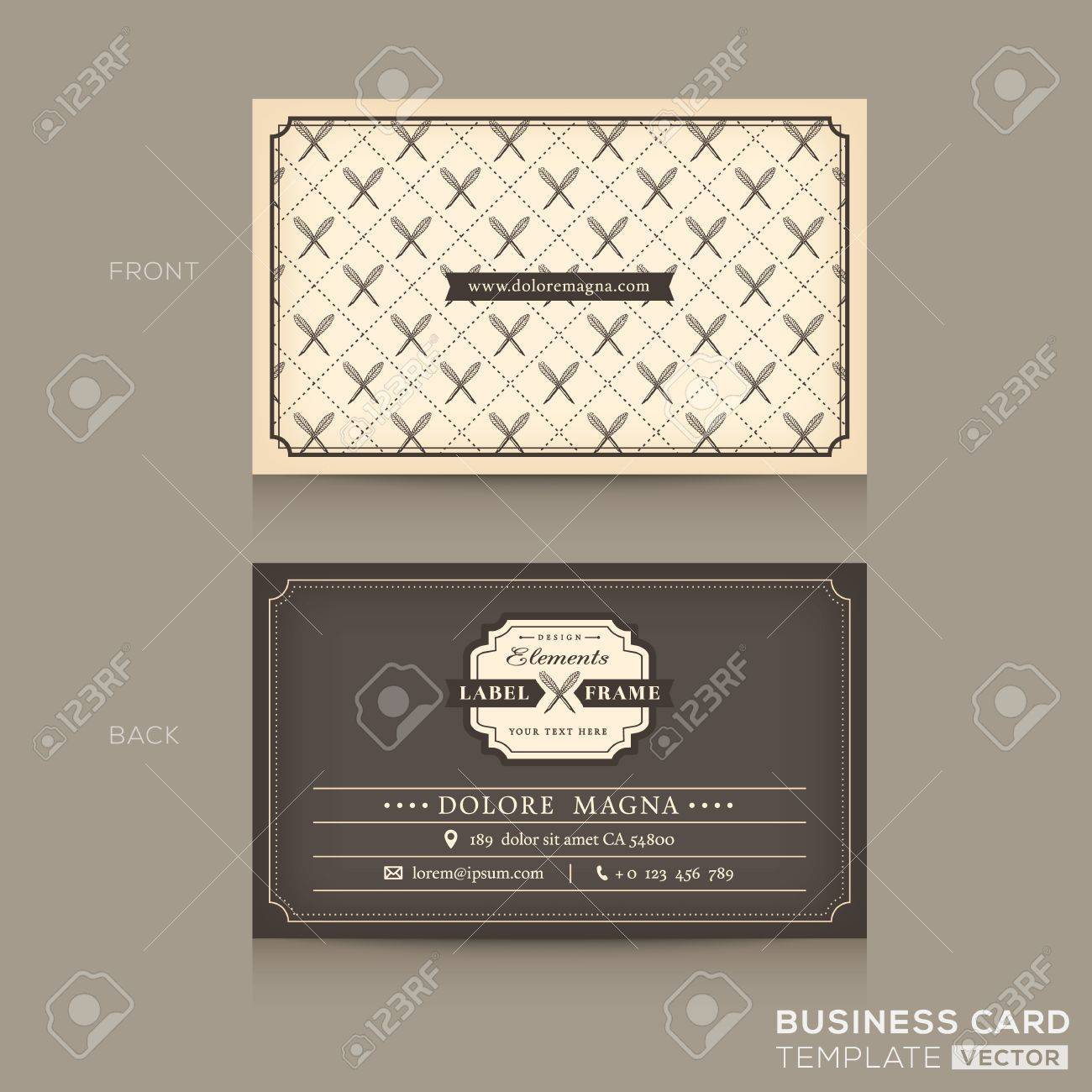 Classic business card design template royalty free cliparts vectors classic business card design template stock vector 34052097 colourmoves