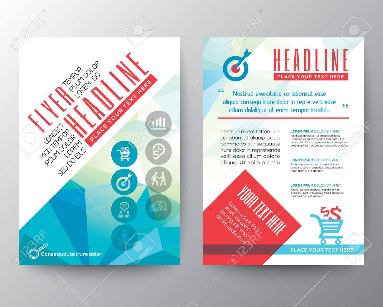 Abstract Typography Polygon Brochure Flyer Design Layout Vector – Typography Flyer