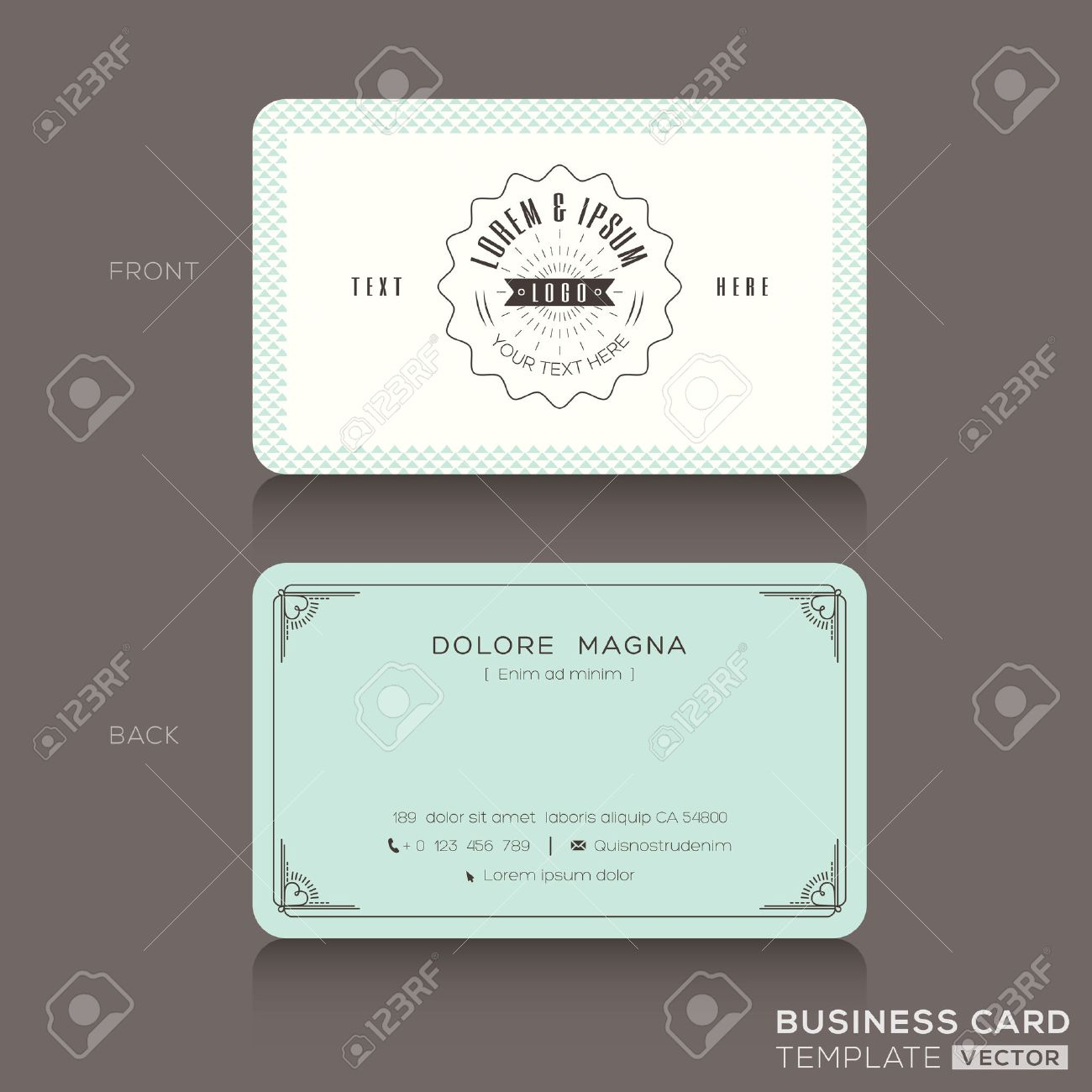 Retro hipster business card design template royalty free cliparts imagens retro hipster business card design template reheart Image collections